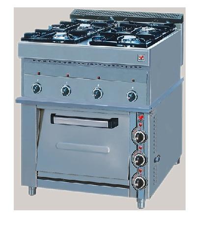 Επιδαπέδια Κουζίνα Υγραερίου με Ηλεκτρικό Φούρνο