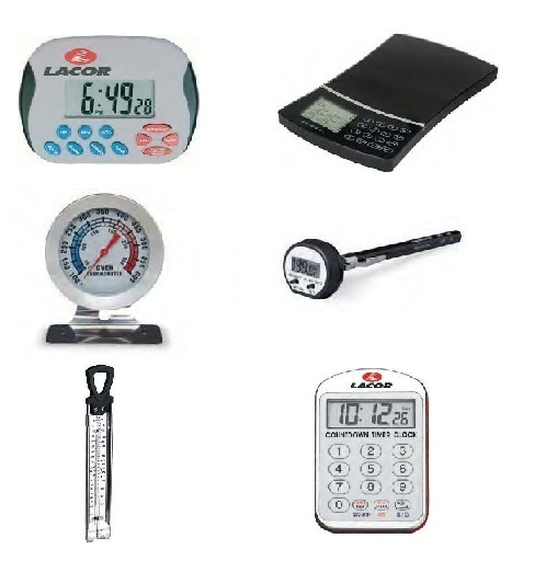 Θερμιδομετρητής-Θερμόμετρα-Ρολόι Κουζίνας