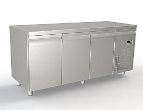 Πλάτος Πάγκου:80cm (Για Λαμαρίνες 40x60cm) (Με ψυκτικό μηχάνημα-Με πόρτες)