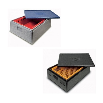 Ισοθερμικά Κιβώτια για Λαμαρίνες-Ταψιά-Δίσκους-Κιβώτια 600x400mm Στοιβαζόμενο