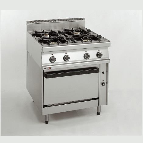 Επιδαπέδια Κουζίνα Αερίου Με φούρνο