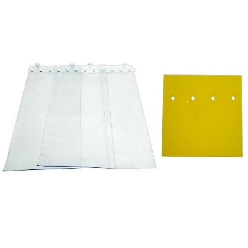 Κίτρινες Εντομοαπωθητικές Κουρτίνες PVC Για Πόρτες