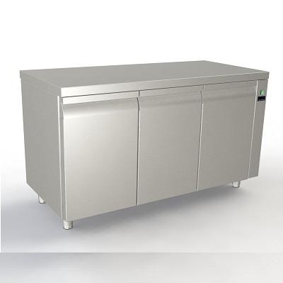 Πλάτος Πάγκου:80cm (Για Λαμαρίνες 40x60cm) (Χωρίς ψυκτικό μηχάνημα-Με πόρτες)