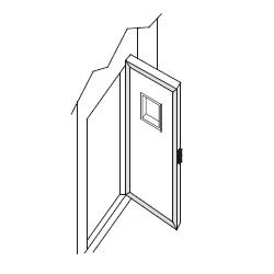 Πόρτα με παράθυρο λευκή/λευκή 80χ190cm πάχος:8cm ψυκτικοί θάλαμοι    λυώμενοι με κλειδιά   friulinox εξαρτήματα ψυκτικών θαλάμων