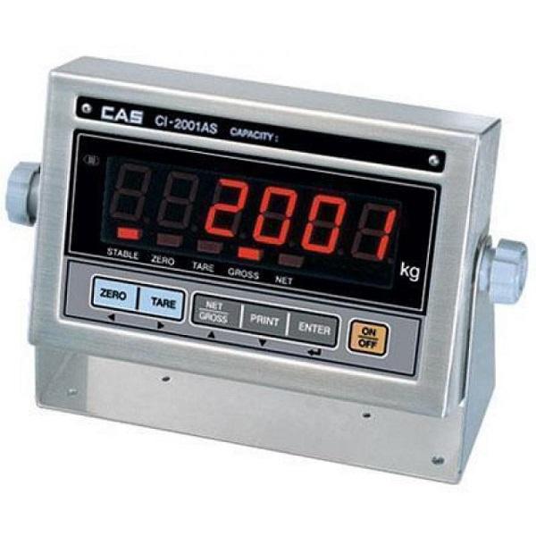 CAS CI-2001AS Inox Εξωτερικός Ενδείκτης Βάρους Ρεύματος LED - 200x125x60mm επαγγελματικός εξοπλισμός   ζυγαριές  ζυγοί   ενδείκτες βάρους