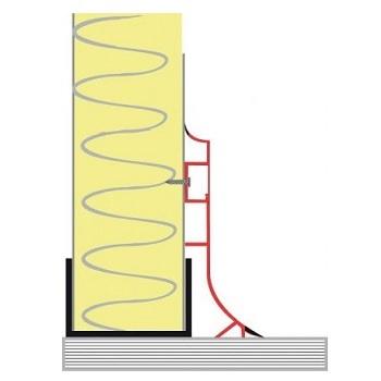 Castel Engineering EX.80 Πλαστικό Σοβατεπί Με Κρυφή Βίδα Για Πάνελ Ψυκτικού Θαλά ψυκτικοί θάλαμοι    πόρτες   εξαρτήματα ψυκτικών θαλάμων  ψυκτικοί θάλαμοι    πό