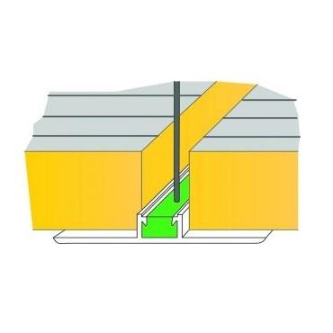Castel Engineering T.O.ALU.01 Ταφ Omega Αλουμινίου - Στήριγμα Πάνελ Οροφής - 100 ψυκτικοί θάλαμοι    πόρτες   εξαρτήματα ψυκτικών θαλάμων  ψυκτικοί θάλαμοι    πό