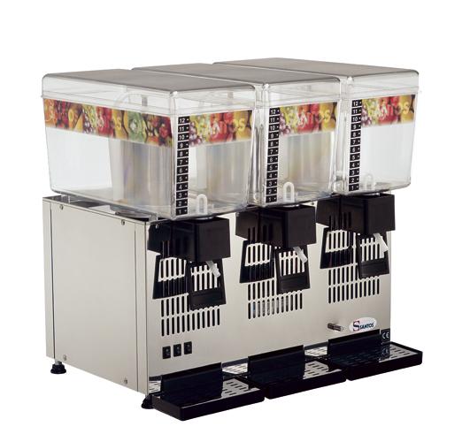 Santos No 34-3 Ψύκτες Χυμών με 3 Κάδους (3x12Lit) (Γαλλίας) black week προσφορές   ψύκτες χυμών  επαγγελματικός εξοπλισμός   μηχανές καφέ