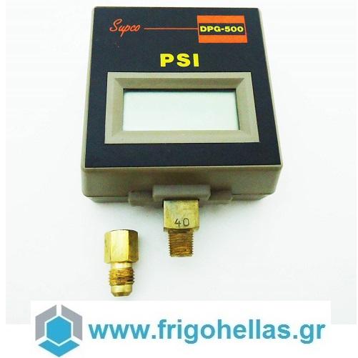 SUPCO DPG500 Ηλεκτρονικό Μανόμετρο προσφορές   εργαλεία για ψυκτικούς   μανόμετρα  εργαλεία για ψυκτικούς   κάσες μ