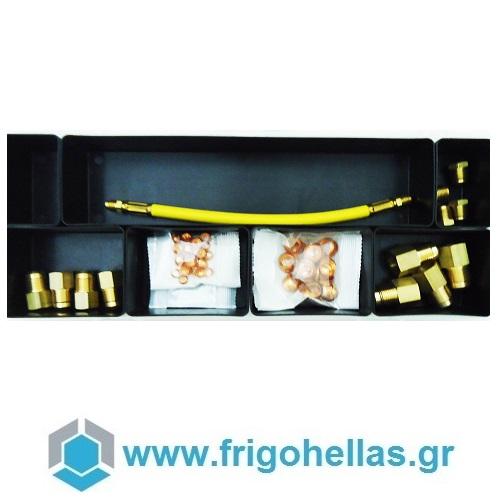 Wigam F1-PASS Kit Με Adapters Για Μηχάνημα Flush & Dry (05108042) εργαλεία για ψυκτικούς   σταθμός καθαρισμού ψυκτικών κυκλωμάτων  προσφορές   εργ