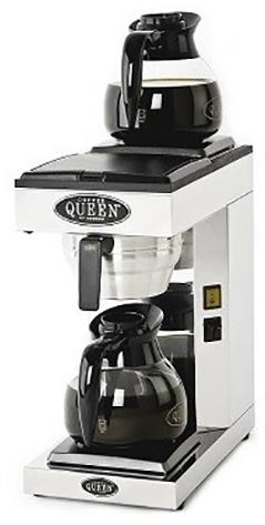 COFFEE QUEEN M2 Μηχανή Καφέ Φίλτρου Ανοξείδωτη Με 2 Γυάλινες Κανάτες - Παραγωγή: επαγγελματικός εξοπλισμός   μηχανές καφέ   συσκευές για bar  επαγγελματικός εξοπ