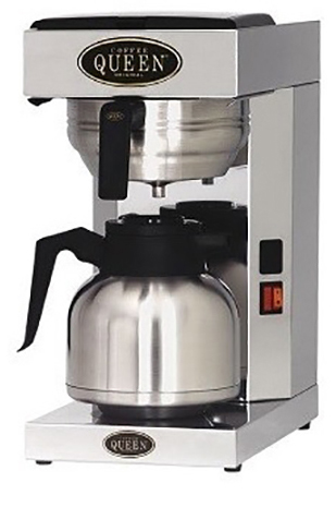 COFFEE QUEEN Office Thermos Μηχανή Καφέ Φίλτρου Ανοξείδωτη Με Θερμός - Παραγωγή: επαγγελματικός εξοπλισμός   μηχανές καφέ   συσκευές για bar   μηχανές καφέ φίλτρ