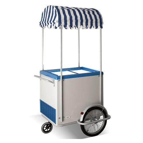 CRYSTAL ICE CREAM CART Καρότσι Παγωτού 260Lit - Ελληνικής Κατασκευής - 1050x1120 επαγγελματικός εξοπλισμός   επαγγελματικά ψυγεία   βιτρίνες παγωτού  επαγγελματι