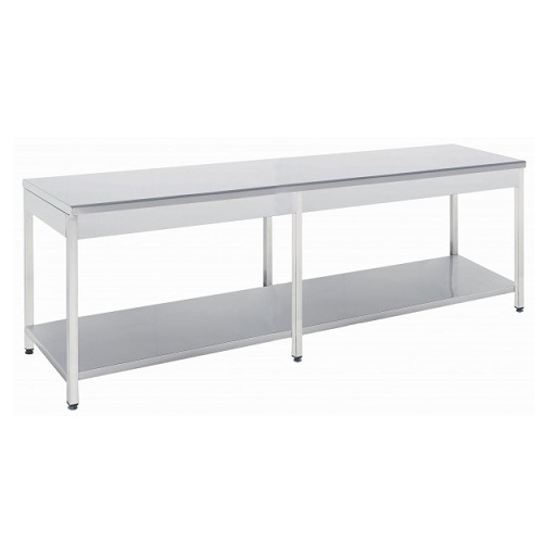 Niki Inox TR 70 285 Τραπέζι Εργασίας - 2850x700x860mm black week προσφορές   τραπέζι εργασίας  επαγγελματικός εξοπλισμός   τραπέζια ερ