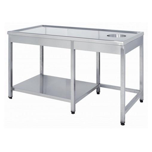 Niki Inox TR EP 210 Τραπέζι Εργασίας Με Χώρο Για Κάδο - 2100x700x860mm black week προσφορές   τραπέζι εργασίας  επαγγελματικός εξοπλισμός   τραπέζια ερ