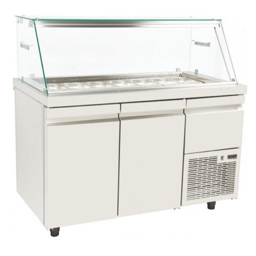 SA 15 134A Επαγγελματικά Ψυγεία Βιτρίνες Σαλατών Με Αέρα (Κατάλληλο για Μπουγατσ επαγγελματικός εξοπλισμός   επαγγελματικά ψυγεία   βιτρίνες για snack   συνθέσει