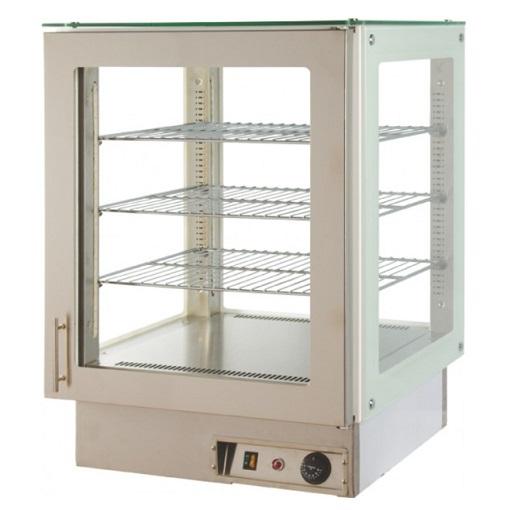 V4 HE 60 IN Βιτρίνα Επιτραπέζια Θερμαινόμενη 4 Όψεων (Inox) - 610x600x800mm επαγγελματικός εξοπλισμός   επαγγελματικά ψυγεία   βιτρινάκια πάγκου συντήρησης