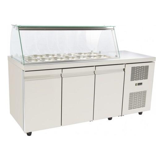 SA GN 185M Επαγγελματικά Ψυγεία Βιτρίνες Σαλατών (Κατάλληλο για Μπουγατσατζίδικα επαγγελματικός εξοπλισμός   επαγγελματικά ψυγεία   ψυγεία για σαλάτες  επαγγελμα