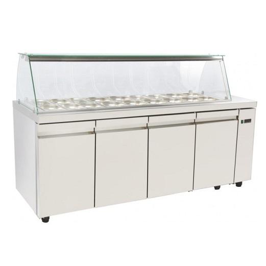 SA GN 195A Επαγγελματικά Ψυγεία Βιτρίνες Σαλατών (Κατάλληλο για Μπουγατσατζίδικα επαγγελματικός εξοπλισμός   επαγγελματικά ψυγεία   ψυγεία για σαλάτες  επαγγελμα
