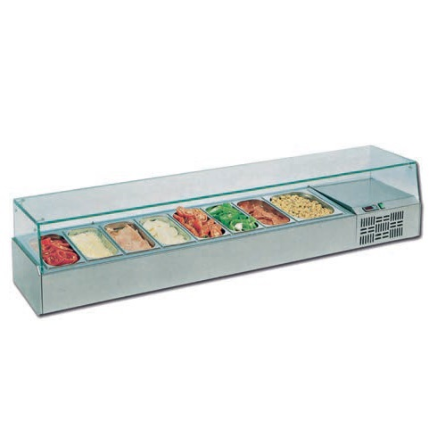 VETRO 6 (6 GN 1/3) Επιτραπέζιο Επαγγελματικό Ψυγείο Βιτρίνα - 1500x395x435mm (Χω home page   δημοφιλή  επαγγελματικός εξοπλισμός   επαγγελματικά ψυγεία   βιτρίνε