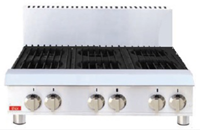 Thor TR-HP636F Εστία Υγραερίου Ανοξείδωτη & Επιτραπέζια (Με 6 εστίες) - 915x700x επαγγελματικός εξοπλισμός   φούρνοι   μικροκύματα   κρεπιέρες   βαφλιέρες   φριτ