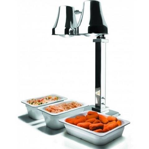 Lacor 69264 Θερμαινόμενες Λάμπες Ανοξείδωτες για Buffet - Λάμπες: 2 επαγγελματικός εξοπλισμός   επαγγελματικά σκεύη εργαλεία κουζίνας μαχαίρια είδη