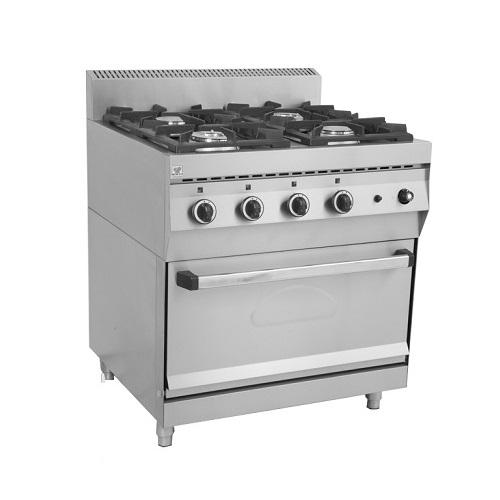 NORTH PRO GAS FGAS E400 Επιδαπέδια Φλόγιστρα Κουζίνα Υγραερίου με Φούρνο - 800x7 επαγγελματικός εξοπλισμός   κουζίνες πλατό φριτέζες βραστήρες  επαγγελματικός εξ