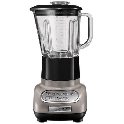 KitchenAid Artisan 5KSB5553EMS Μπλέντερ Ασημένιο Λαμπερό με Γύαλινη Κανάτα 1,5Li επαγγελματικός εξοπλισμός   kitchenaid  επαγγελματικός εξοπλισμός   μηχανές καφέ
