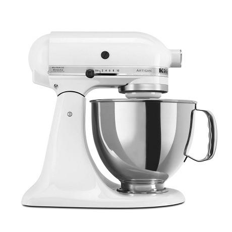 KitchenAid 5KSM150PSEWH Οικιακό Μίξερ Ζαχαροπλαστικής Λευκό με Δίσκο Τροφοδοσίας επαγγελματικός εξοπλισμός   kitchenaid  επαγγελματικός εξοπλισμός   kitchenaid