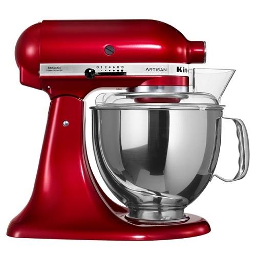 KitchenAid 5KSM150PSECA Οικιακό Μίξερ Ζαχαροπλαστικής Μεταλλικό Κόκκινο με Δίσκο επαγγελματικός εξοπλισμός   kitchenaid  επαγγελματικός εξοπλισμός   συσκευές επε