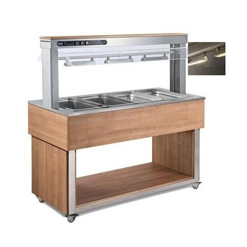 AFINOX TR-Red 4 Salad Bar Ζεστών - Buffet Θερμαινόμενο - Χωρητικότητα: 4 GN 1/1  επαγγελματικός εξοπλισμός   επαγγελματικά ψυγεία   buffet  ψυχόμενα   θερμαινόμε
