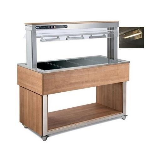 AFINOX TR-BROWN 3 Salad Bar Ζεστών - Buffet Θερμαινόμενο - Χωρητικότητα: 3 GN 1/ επαγγελματικός εξοπλισμός   επαγγελματικά ψυγεία   buffet  ψυχόμενα   θερμαινόμε
