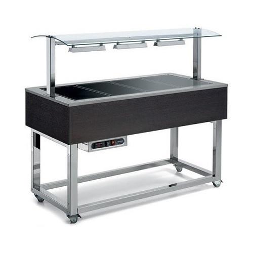 AFINOX ES-Brown 4 Salad Bar Ζεστών - Buffet Θερμαινόμενο - Χωρητικότητα: 4 GN 1/ επαγγελματικός εξοπλισμός   επαγγελματικά ψυγεία   buffet  ψυχόμενα   θερμαινόμε