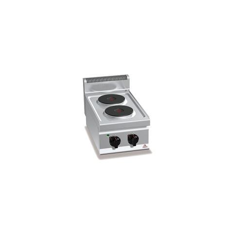 BERTOS E7P2B Επιτραπέζια Κουζίνα Ηλεκτρική Με 2 Εστίες - 400x700x290mm επαγγελματικός εξοπλισμός   κουζίνες πλατό φριτέζες βραστήρες  επαγγελματικός εξ