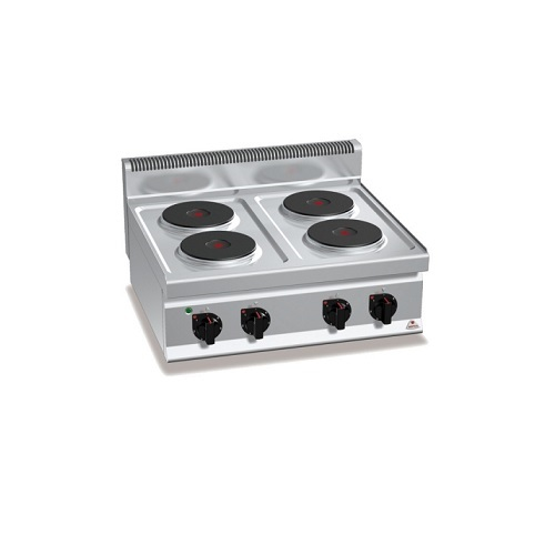 BERTOS E7P4B Επιτραπέζια Κουζίνα Ηλεκτρική Με 4 Εστίες - 800x700x290mm επαγγελματικός εξοπλισμός   κουζίνες πλατό φριτέζες βραστήρες  επαγγελματικός εξ