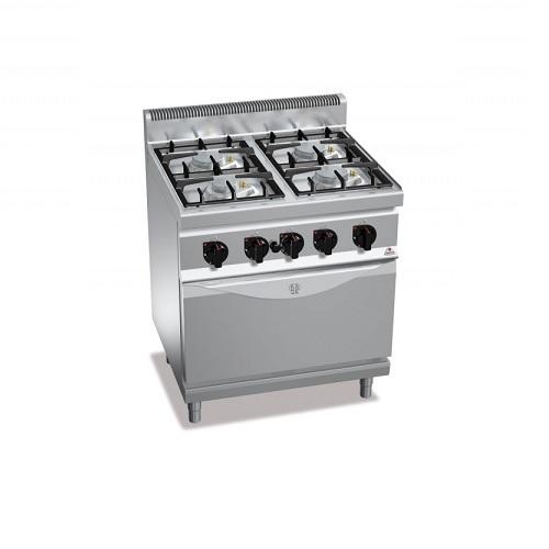 BERTOS G7F4+FG1 Επιδαπέδια Κουζίνα Αερίου Με Φούρνο Αερίου GN 1/1 & 4 Εστίες επαγγελματικός εξοπλισμός   κουζίνες πλατό φριτέζες βραστήρες  επαγγελματικός εξ