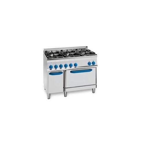 TECNOINOX PF105G7 Επιδαπέδια Κουζίνα Αερίου Με Φούρνο Ηλεκτρικό GN 2/1 & 6 Εστίε επαγγελματικός εξοπλισμός   κουζίνες πλατό φριτέζες βραστήρες  επαγγελματικός εξ