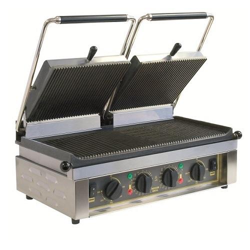 ROLLER GRILL MAJESTIC Τοστιέρα Διπλή Άνω - Κάτω Ραβδωτή Ψήνει 192 Μπιφτέκια / Ώρ black week προσφορές   τοστιέρα  επαγγελματικός εξοπλισμός   φούρνοι μικροκύματα