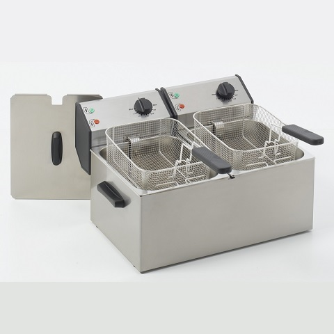 ROLLER GRILL FD80D Επαγγελματική Φριτέζα Ηλεκτρική 8+8 Lit - 7,2Kw - 230Volt (Γα black week προσφορές   φριτέζες  επαγγελματικός εξοπλισμός   κουζίνες πλατό φριτ
