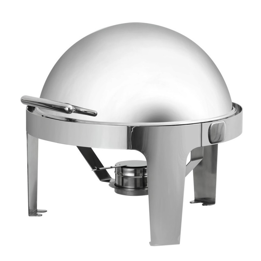 035.0206 Bain Marie Roll Top Στρόγγυλο Chafing Dish Ανοξείδωτο 5Lit - 500x530x45 black week προσφορές   chafing dishes  μπαιν μαρί  επαγγελματικός εξοπλισμός   φ