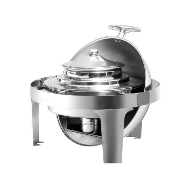035.0210 Bain Marie Chafing Dish Roll Top Σουπιέρα Ανοξείδωτη 4,5Lit - 500x530x4 black week προσφορές   chafing dishes  μπαιν μαρί  επαγγελματικός εξοπλισμός   φ