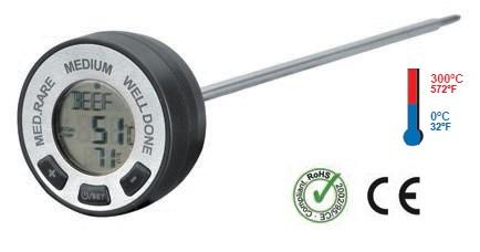 Lacor 62487 Θερμόμετρο Ψηφιακό με Alarm Ø50x230mm - (0°C έως +300°C) εργαλεία για ψυκτικούς   θερμόμετρα   υγρασιόμετρα  εργαλεία για ψυκτικούς   θερ