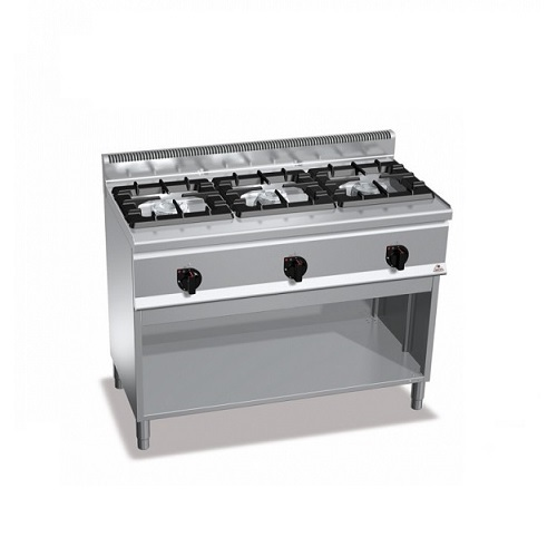 BERTOS G6F3MH12 Επιδαπέδια Κουζίνα Αερίου χωρίς Φούρνο Με 3 Εστίες - 1200x600x90 επαγγελματικός εξοπλισμός   κουζίνες πλατό φριτέζες βραστήρες  επαγγελματικός εξ