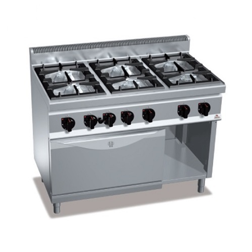 BERTOS G7F6P+FG Επιδαπέδια Κουζίνα Αερίου Με Φούρνο Αερίου GN 2/1 & 6 Εστίες & Ο επαγγελματικός εξοπλισμός   κουζίνες πλατό φριτέζες βραστήρες  επαγγελματικός εξ