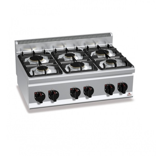BERTOS G6F6B Επιτραπέζια Κουζίνα Αερίου Με 6 Εστίες - 900x600x290mm επαγγελματικός εξοπλισμός   κουζίνες πλατό φριτέζες βραστήρες  επαγγελματικός εξ