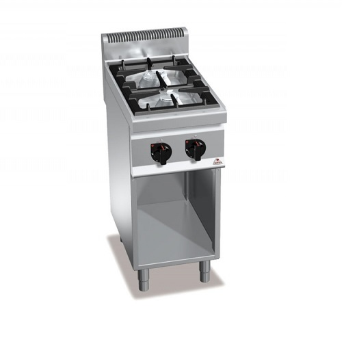 BERTOS G7F2M Επιδαπέδια Κουζίνα Αερίου χωρίς Φούρνο Με 2 Εστίες - 400x700x900mm επαγγελματικός εξοπλισμός   κουζίνες πλατό φριτέζες βραστήρες  επαγγελματικός εξ