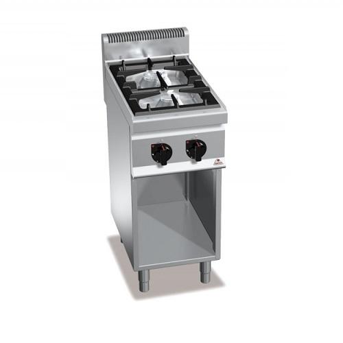 BERTOS G7F2MP Επιδαπέδια Κουζίνα Αερίου χωρίς Φούρνο Με 2 Εστίες - 400x700x900mm επαγγελματικός εξοπλισμός   κουζίνες πλατό φριτέζες βραστήρες  επαγγελματικός εξ