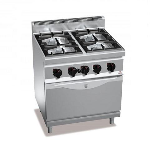BERTOS G7F4+FE1 Επιδαπέδια Κουζίνα Αερίου Με Φούρνο Ηλεκτρικό Convection GN 1/1  επαγγελματικός εξοπλισμός   κουζίνες πλατό φριτέζες βραστήρες  επαγγελματικός εξ