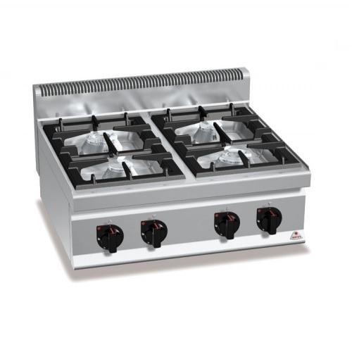 BERTOS G7F4BP Επιτραπέζια Κουζίνα Αερίου Με 4 Εστίες - 800x700x290mm επαγγελματικός εξοπλισμός   κουζίνες πλατό φριτέζες βραστήρες  επαγγελματικός εξ
