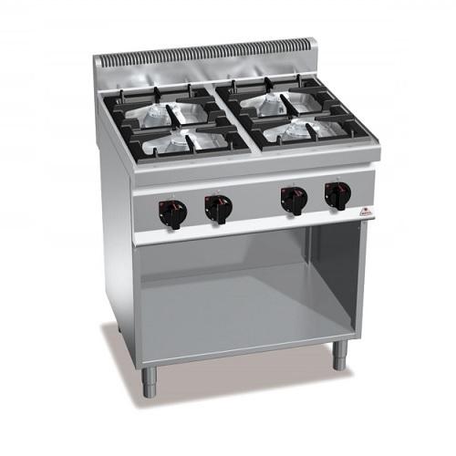 BERTOS G7F4MP Επιδαπέδια Κουζίνα Αερίου χωρίς Φούρνο Με 4 Εστίες - 800x700x900mm επαγγελματικός εξοπλισμός   κουζίνες πλατό φριτέζες βραστήρες  επαγγελματικός εξ